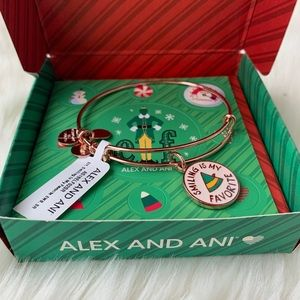 NWT Alex and Ani Smiling Is My Favorite ELF Bangle